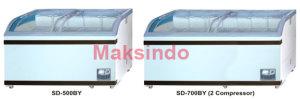 Mesin Sliding Curve Glass Freezer 2